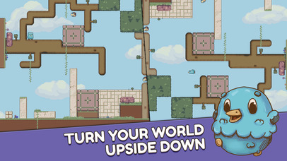 Manipulate levels and gravity to collect eggs in challenging puzzler Mallow Drops