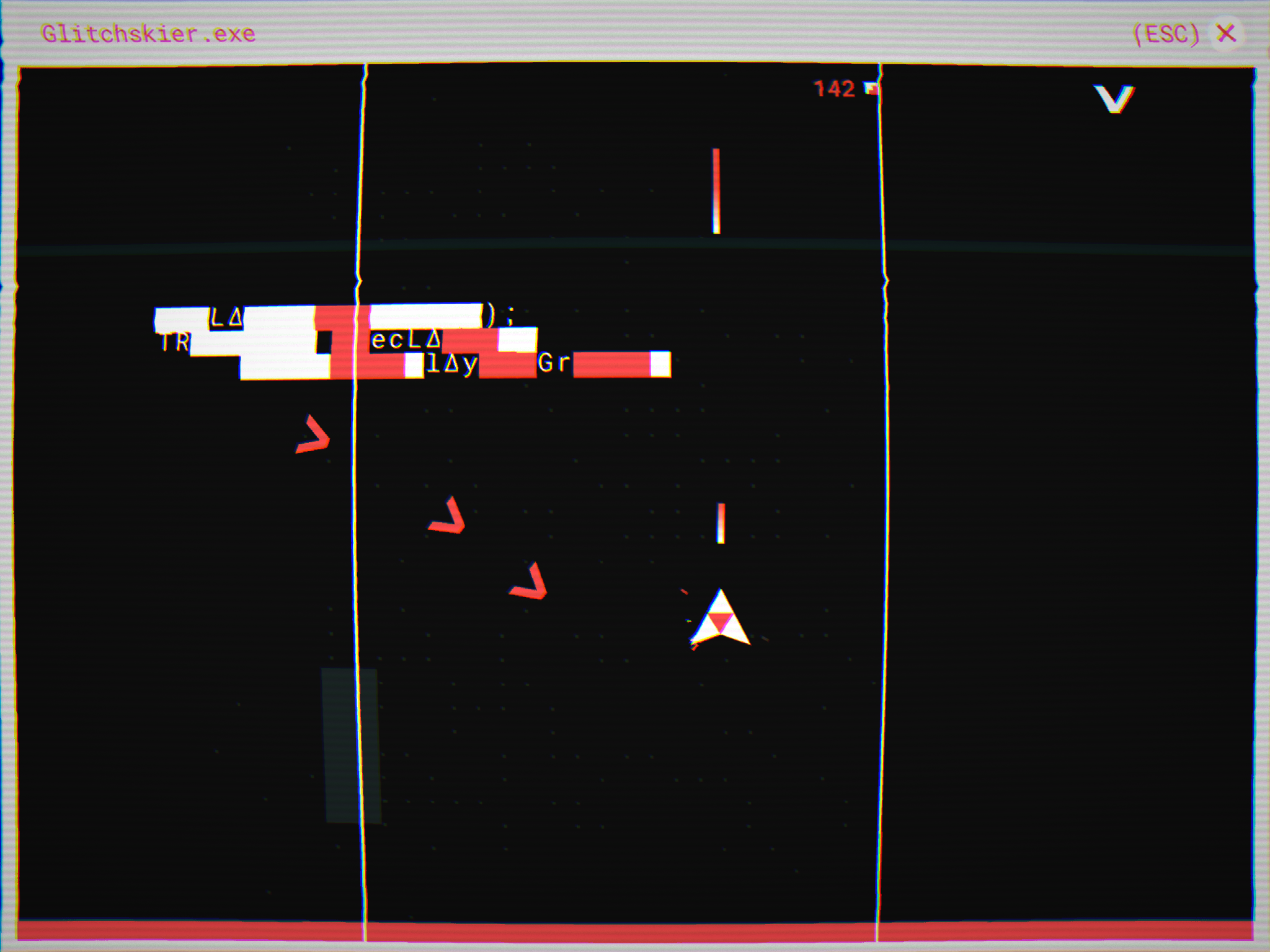 Glitchskier review - A shooter with a style and a substance all of its own