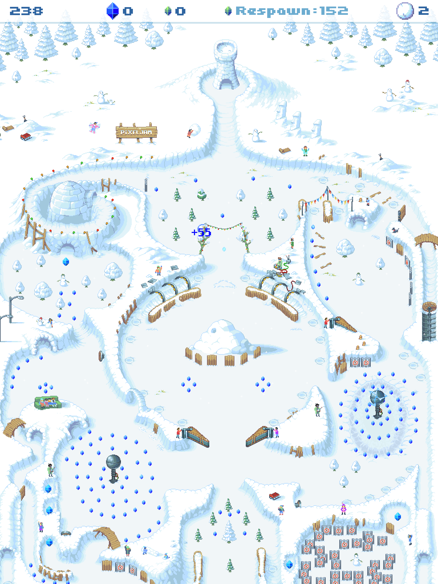 Snowball! review - A snowy pixel-y pinball treat
