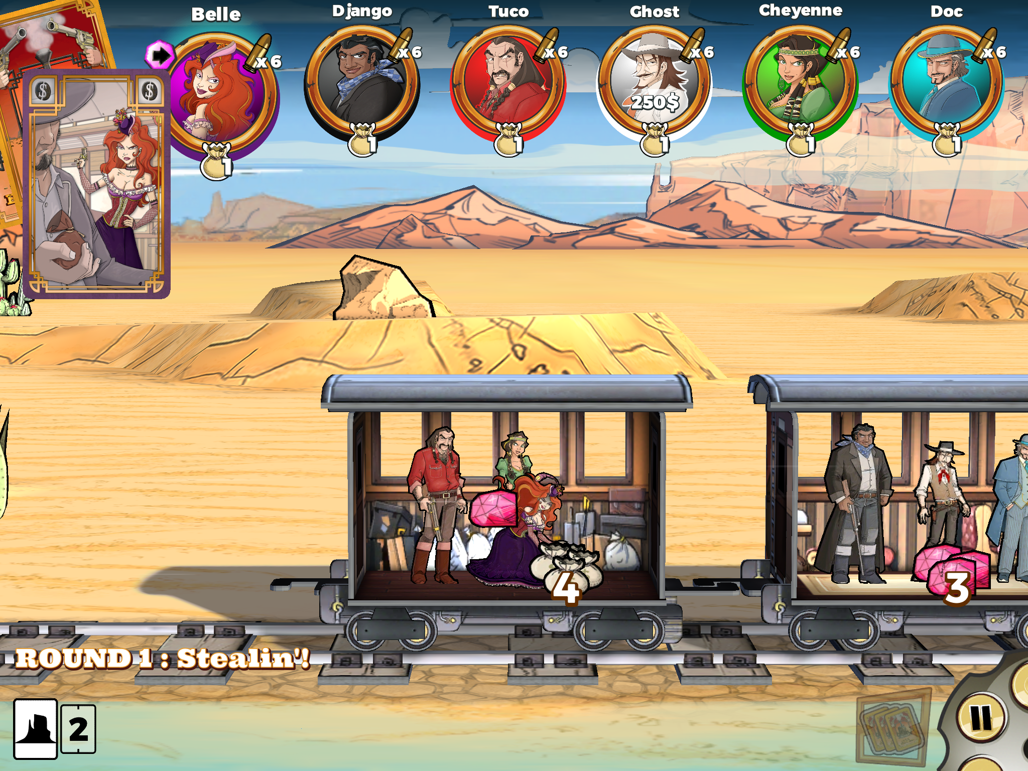 Check out these video tips for the awesome mobile board game Colt Express