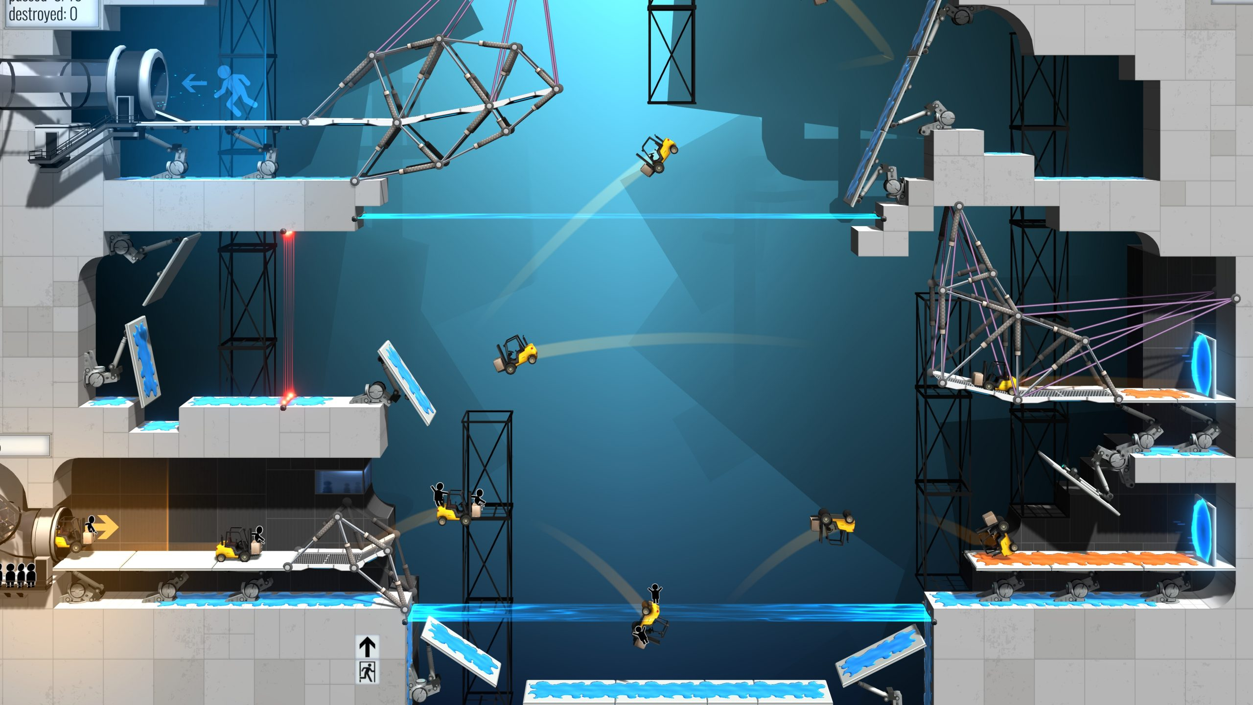 Bridge Constructor Portal tips and tricks - Thinking with Portals, mastering puzzles