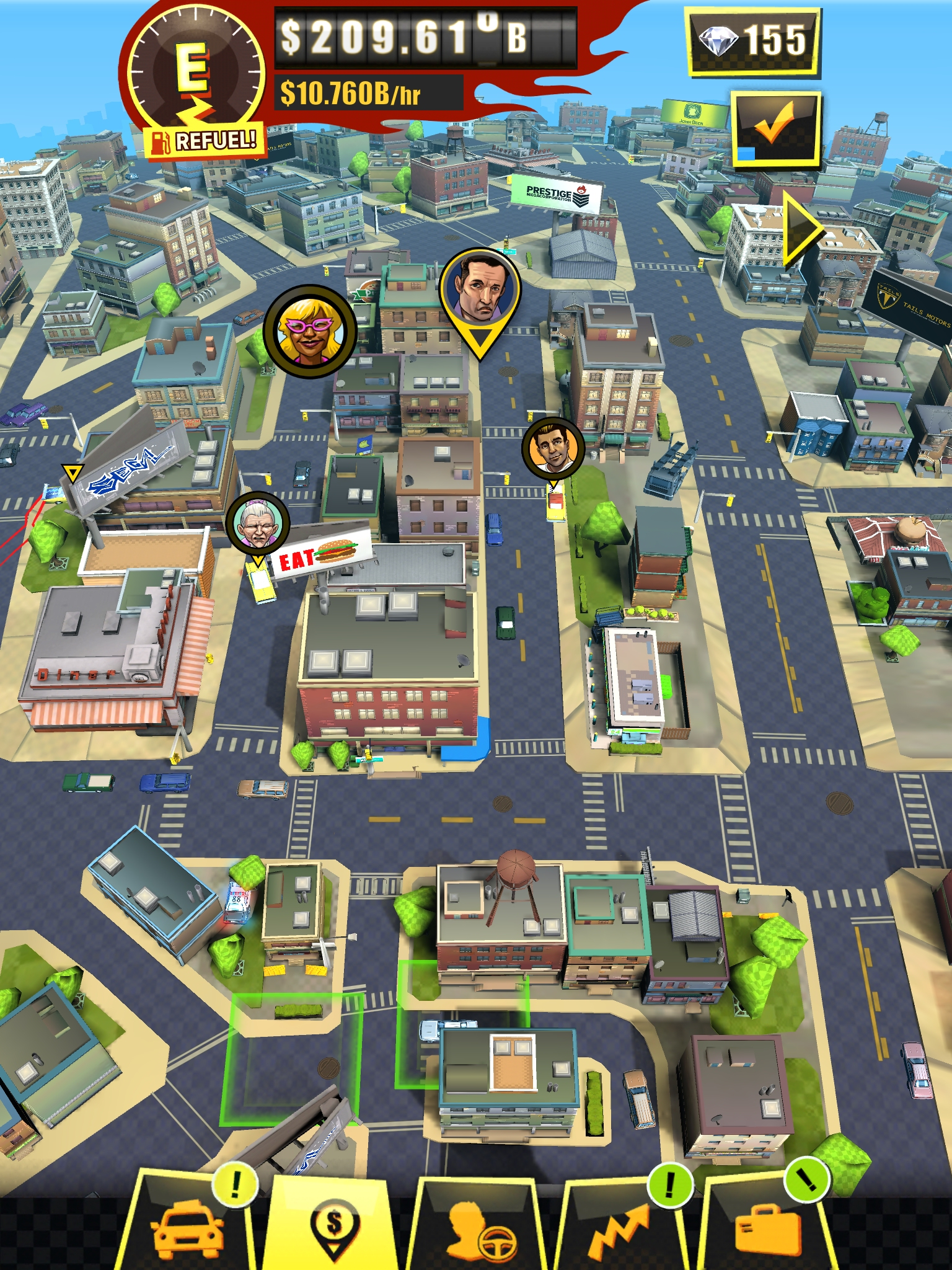 Crazy Taxi Gazillionaire review - An idle clicker with a ker-azy economy