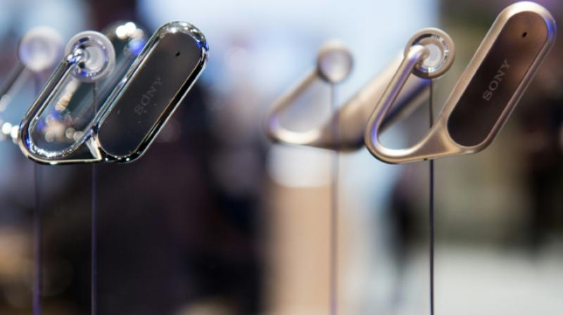 Sony Xperia ear devices are displayed at the Mobile World Congress on the third day of the MWC in Barcelona, on March 1, 2017