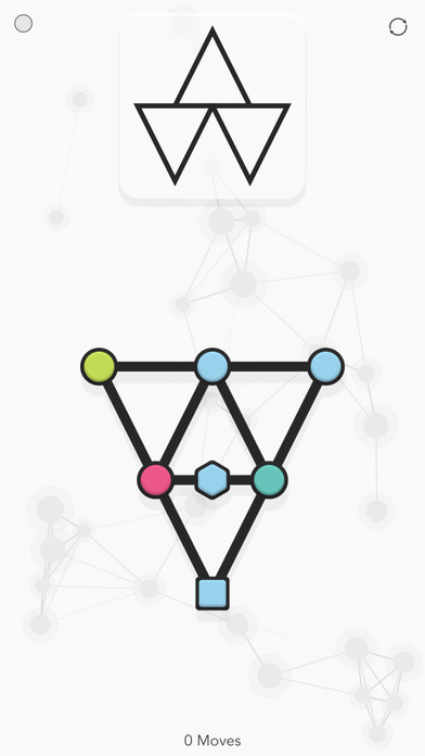 Noded is a shape bending puzzle game that
