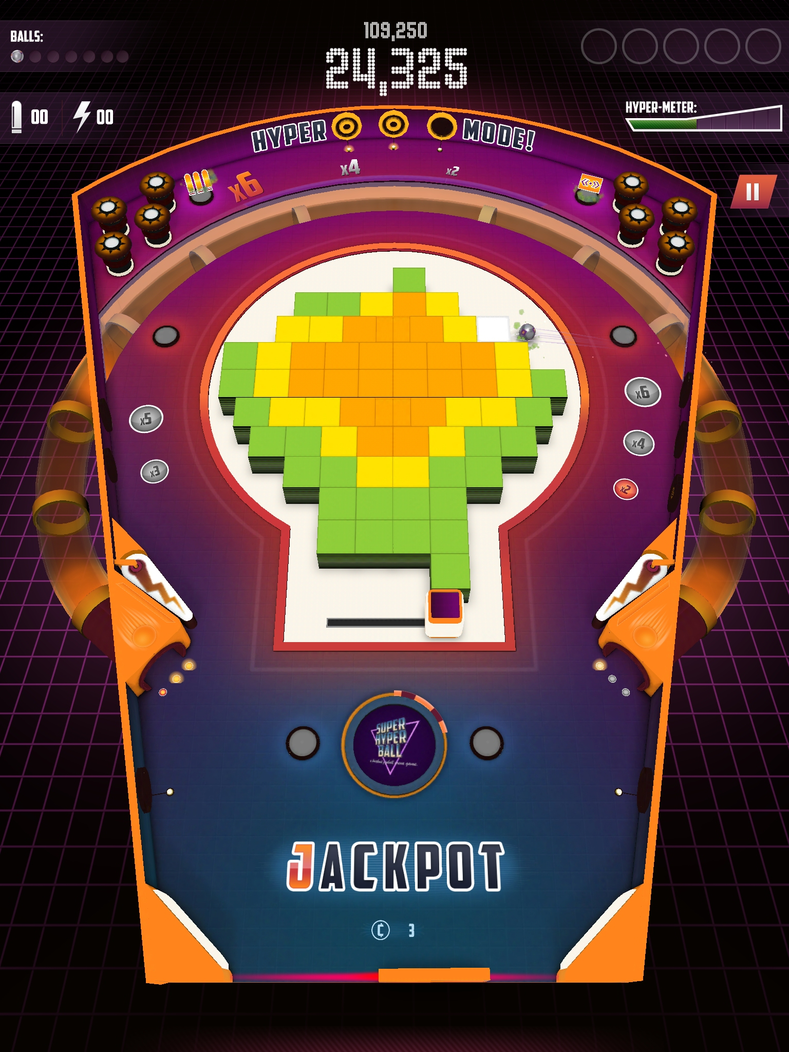 Super Hyper Ball 2 review - Should pinball ever be crossed with Breakout?