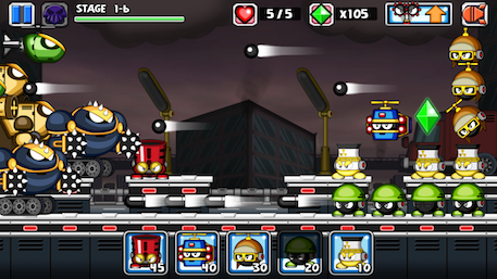 Tiny Defense 2 review - More of the same small scale side-on tower defence