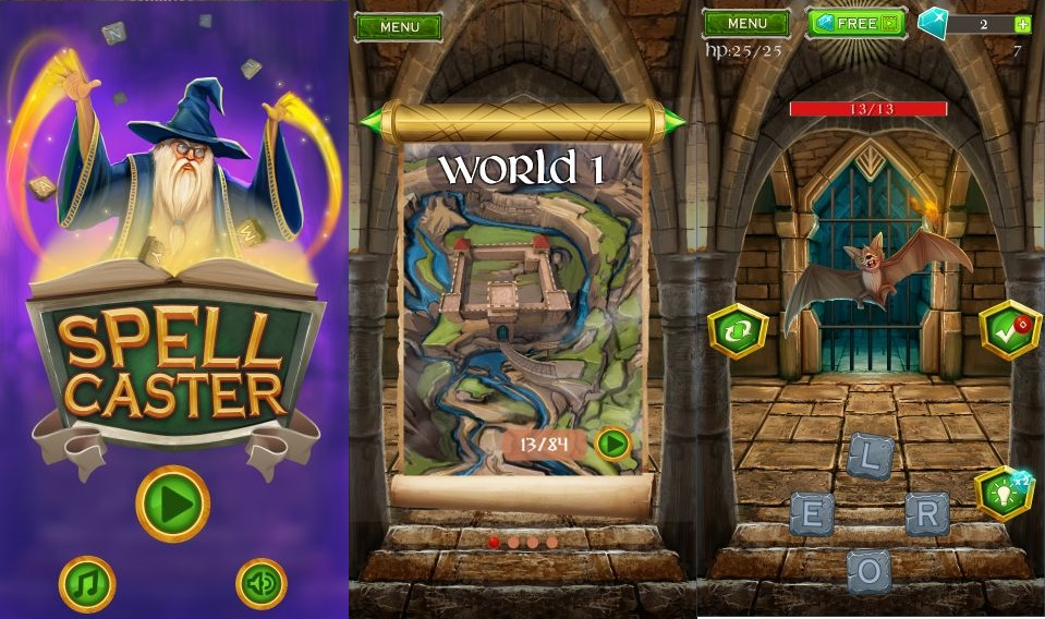 Spell Caster is a fantasy themed word searching puzzler and it
