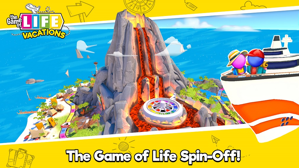 Go on a globetrotting adventure in THE GAME OF LIFE: Vacations for Android and iOS