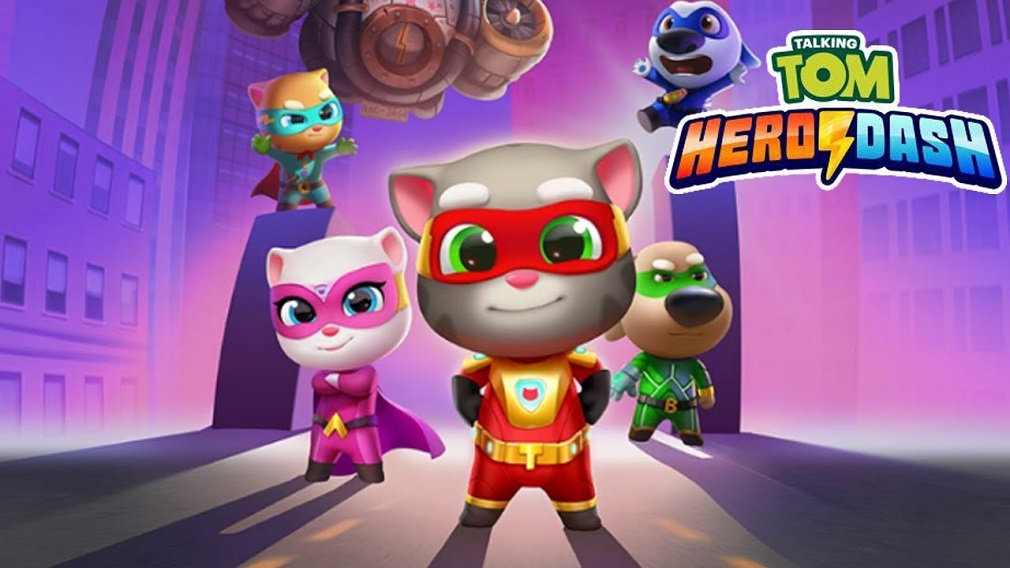Talking Tom Hero Dash is sprinting up the mobile gaming charts