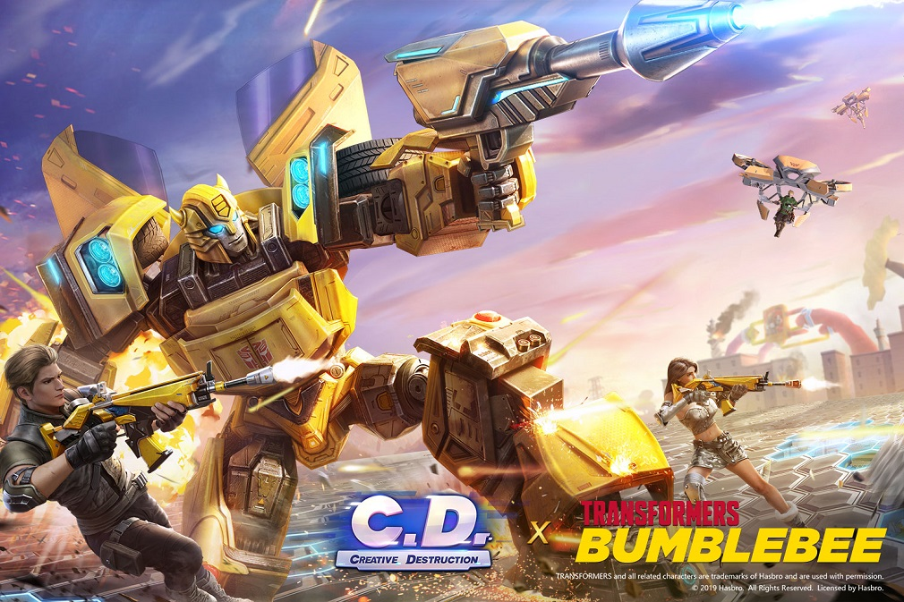 Battle Royale game Creative Destruction gets an amazing Transformers tie-in event