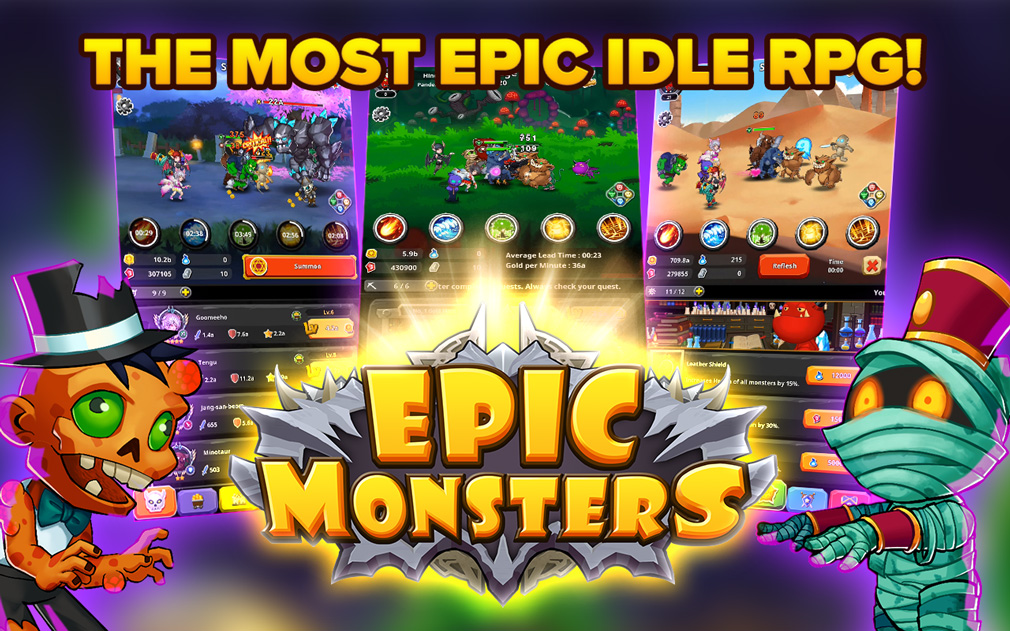 Idle RPG Epic Monsters brings creature-filled fun to Android