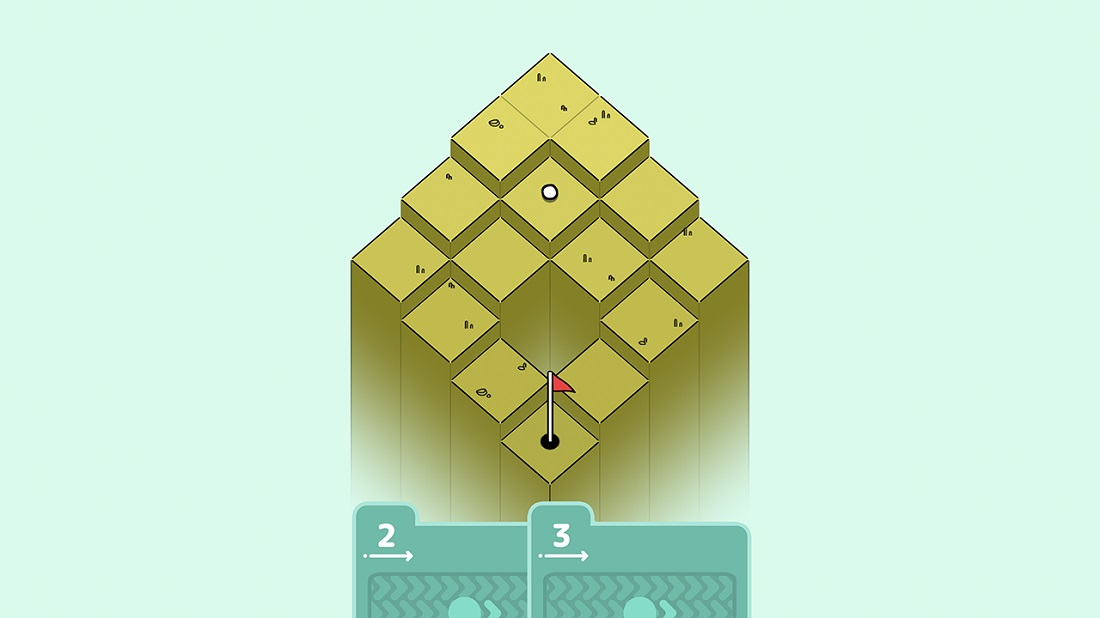 Golf-themed puzzler Golf Peaks has just landed on the App Store's green