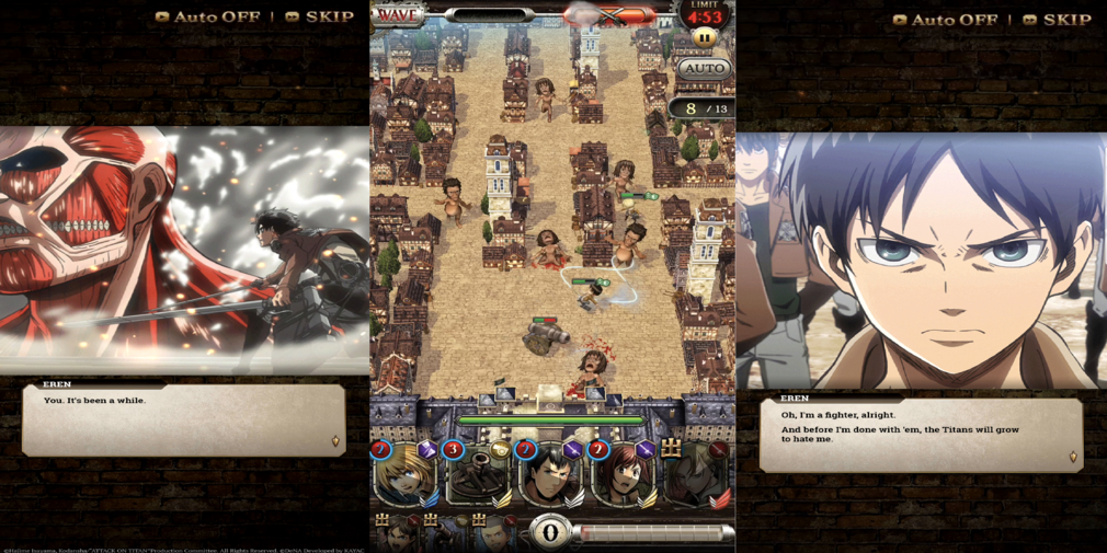 Attack on Titan Tactics is a tower defence strategy game based on the popular anime series, you can pre-register now