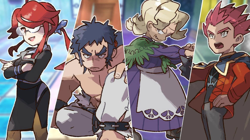 Get your first look at the Elite Four in Pokemon: Let
