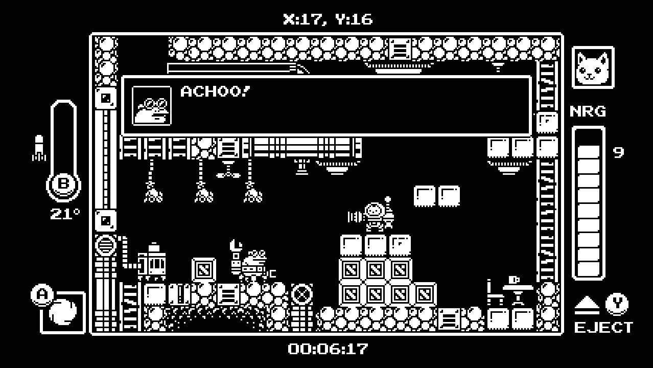 Gato Roboto, for Nintendo Switch, is a Mechtroivania with cats, rockets and tough bosses