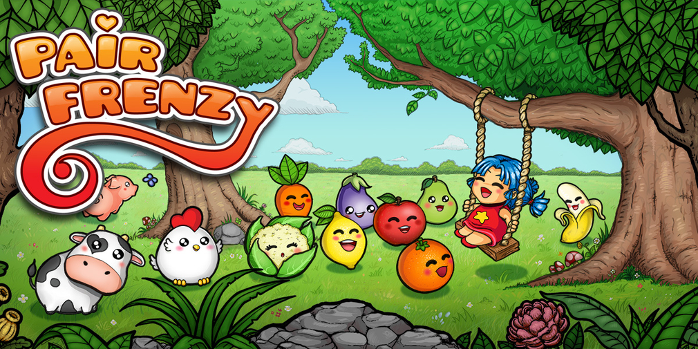 Pair Frenzy is a kawaii influenced memory matching game that