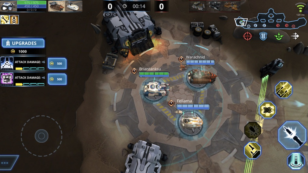 Panzer League is a slow-paced MOBA filled with tanks that