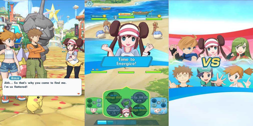 New gameplay for Pokemon Masters has been revealed