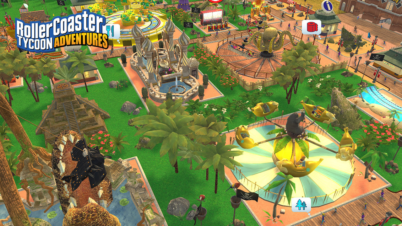 RollerCoaster Tycoon Adventures is racing uncontrollably towards the Switch