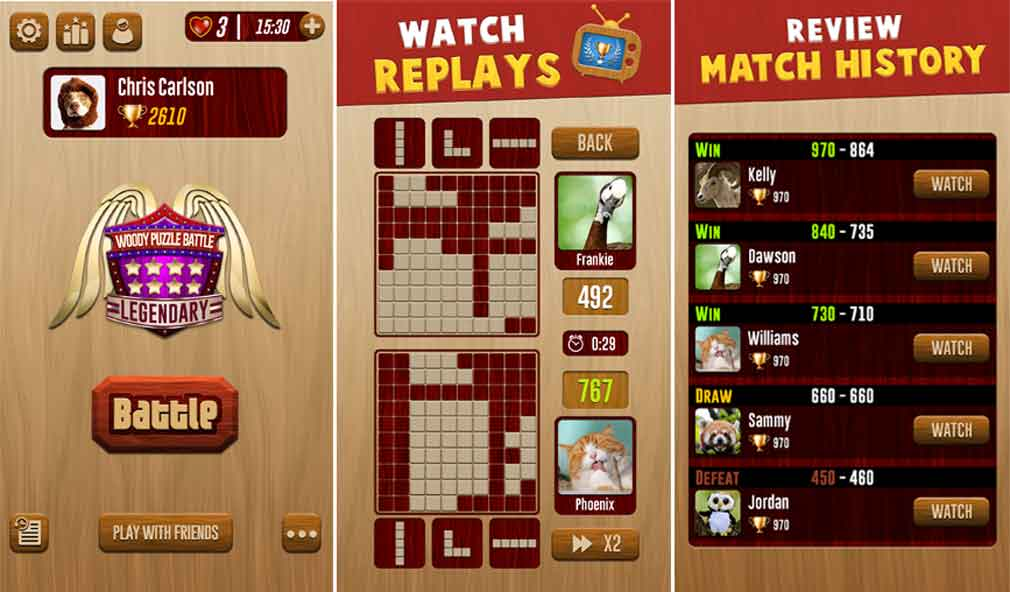 Four reasons to play Woody Battle, the new PvP puzzle game for Android